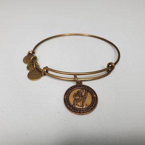 Alex Ani Saint Christopher Bracelet Gold Tone 2014
